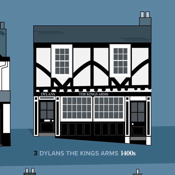 Dylans Kings Arms St Albans illustration