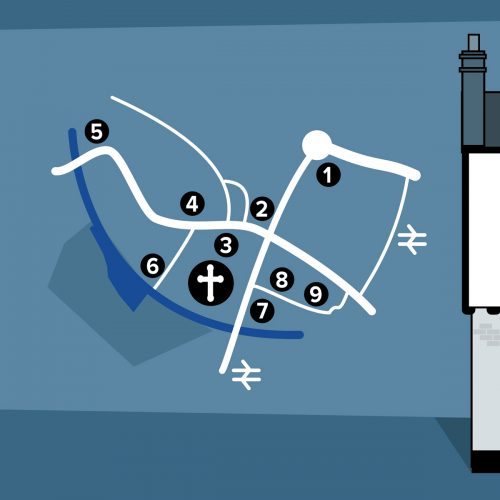 Map Pub Crawl St Albans illustration