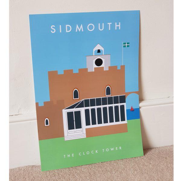 Sidmouth Clocktower Poster A3 Unframed
