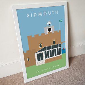 Sidmouth Clocktower Poster A3