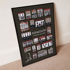 Sidmouth smooth and dark coffee poster