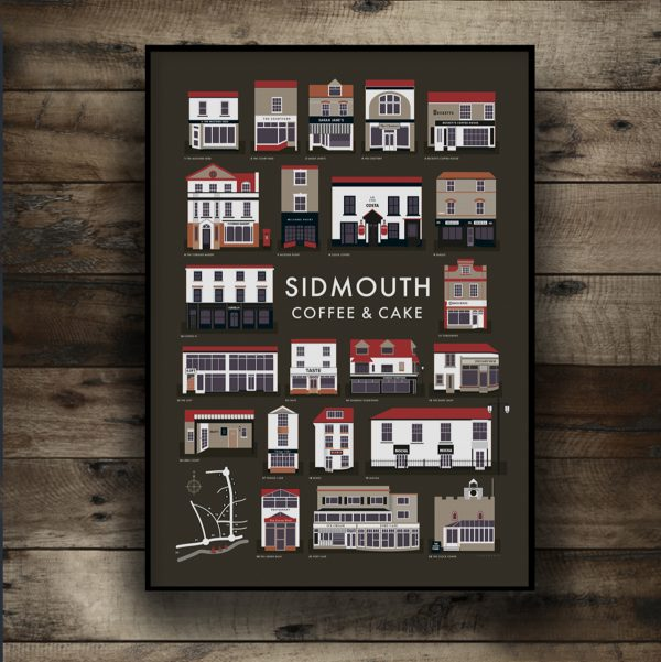 Sidmouth Dark Roast coffee poster on wall