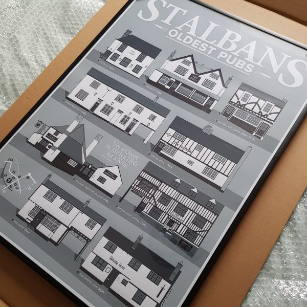 St Albans poster in our premium frame