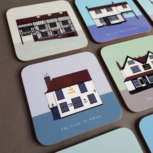 The White Hart and The Goat Inn Coasters