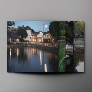 Reflections on Carshalton Ponds Greeting Cards