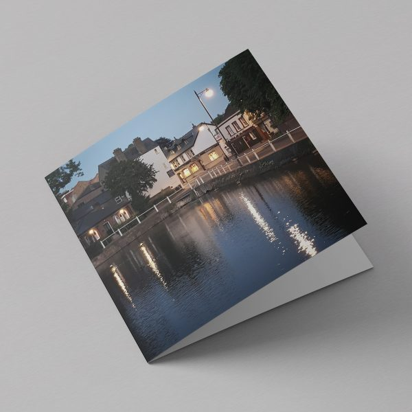 Carshalton in the evening greeting card