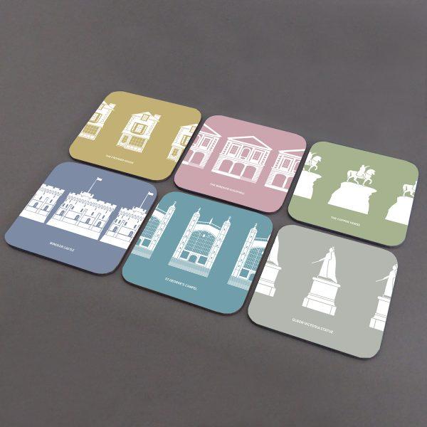 Windsor Landmarks Coasters