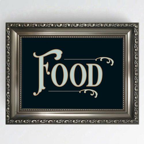 Antique Pub Sign Food
