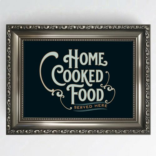 Antique Pub Sign Home Cooked Food