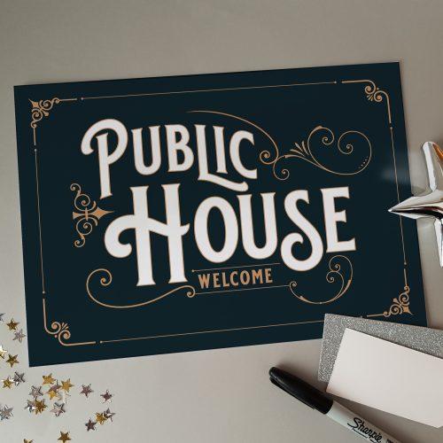 Unframed Public House Print