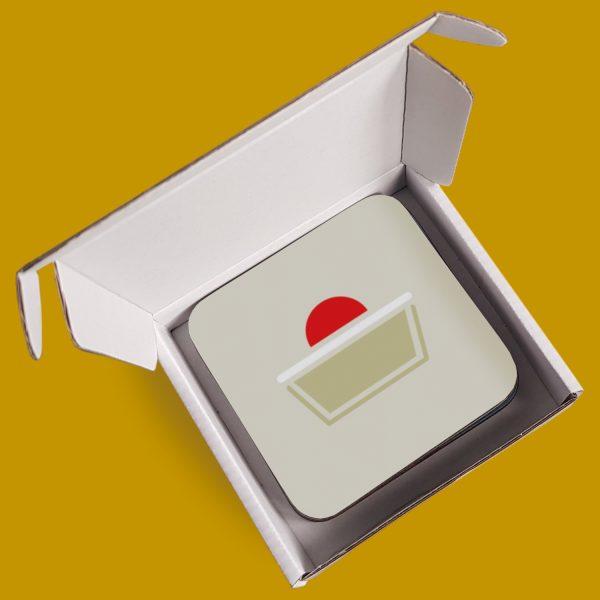 Box of cake coasters
