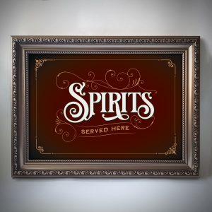 Spirits print in frame
