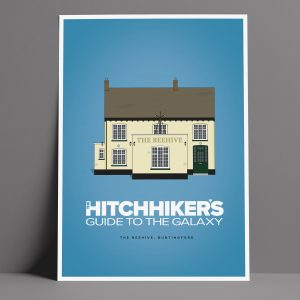 Hitchhiker's Guide To The Galaxy Pub Poster