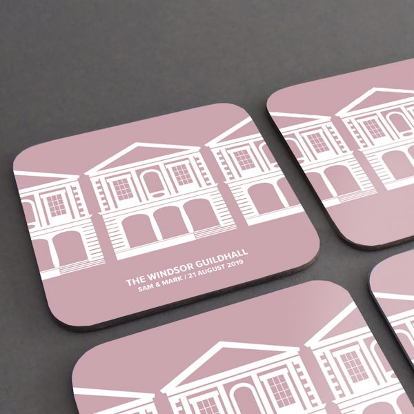 Windsor Guildhall Coasters Personalisation Example