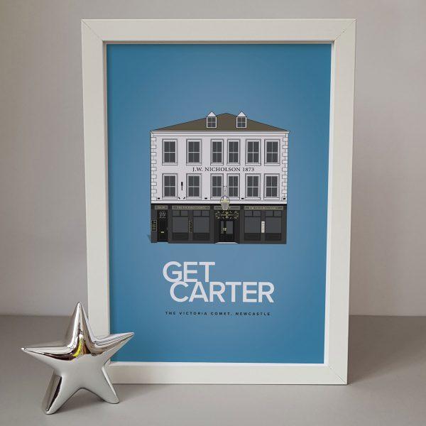 Get Carter Movie Pub Print Framed