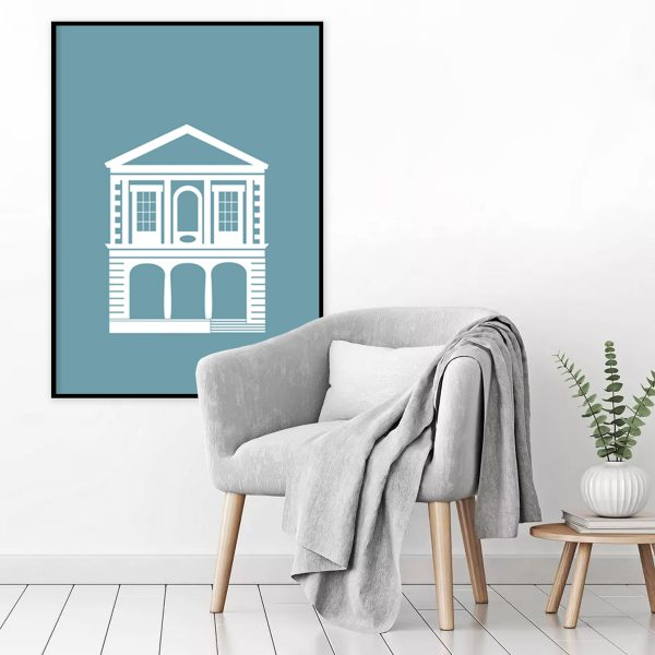 Muted Teal Windsor Guildhall Print on wall