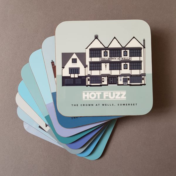 Pubs in Films coasters stacked