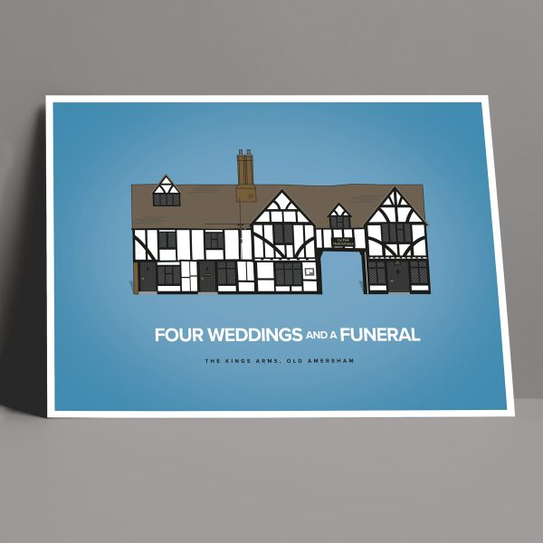 Four Weddings and a Funeral movie pub poster Amersham