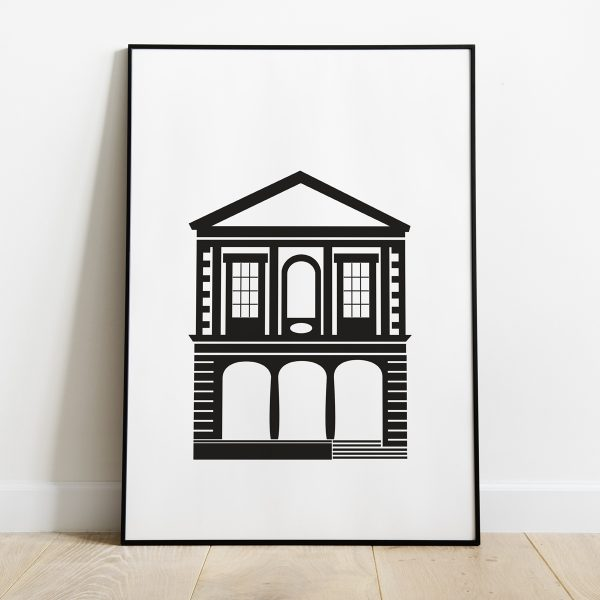 Windsor Guildhall poster in Black and White