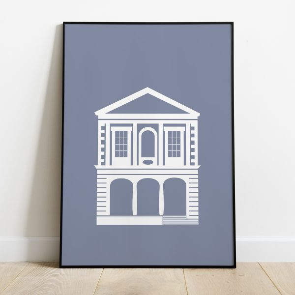 Windsor Guildhall poster in Deep Mauve