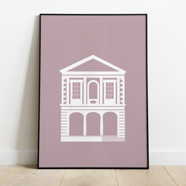 Windsor Guildhall poster in Dusty Pink