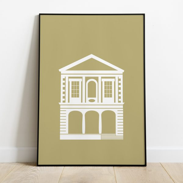 Windsor Guildhall Poster Muted Mustard