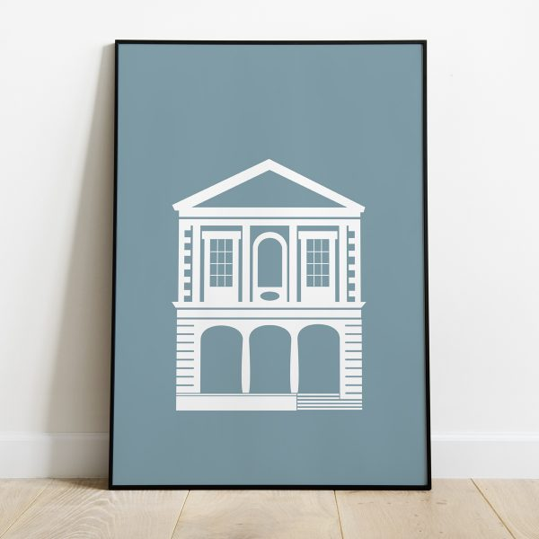 Windsor Guildhall poster in Muted Teal
