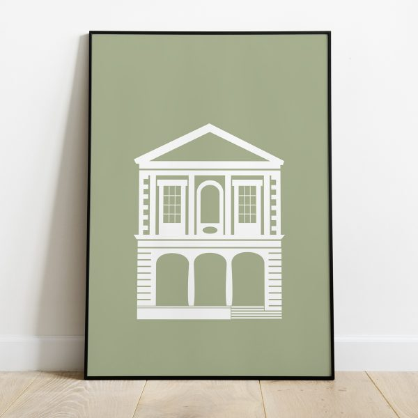 Windsor Guildhall poster in Pale Sage