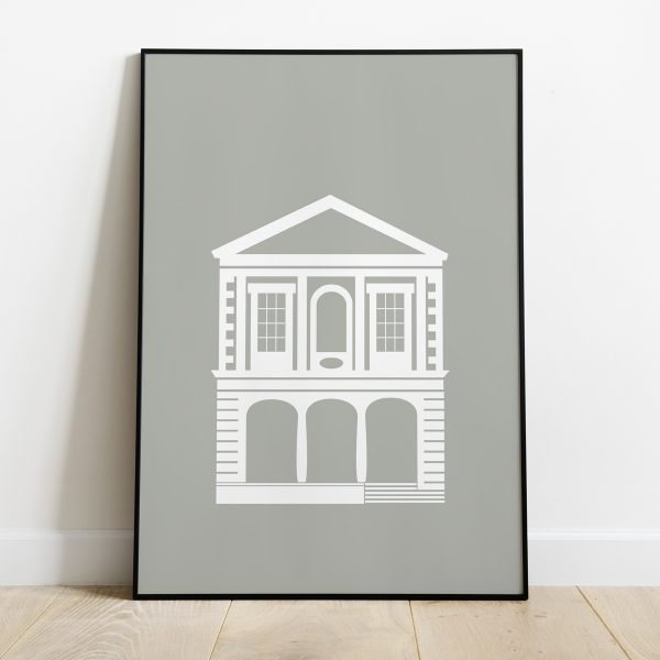 Windsor Guildhall poster in Stone Grey