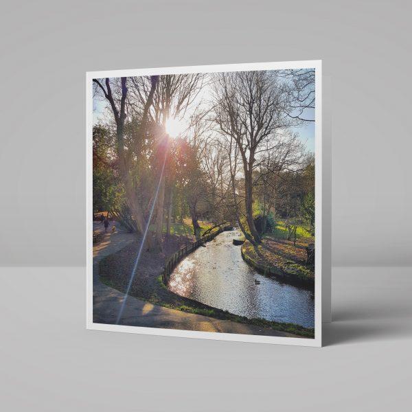 The Grove River Wandle Carshalton Greeting Card