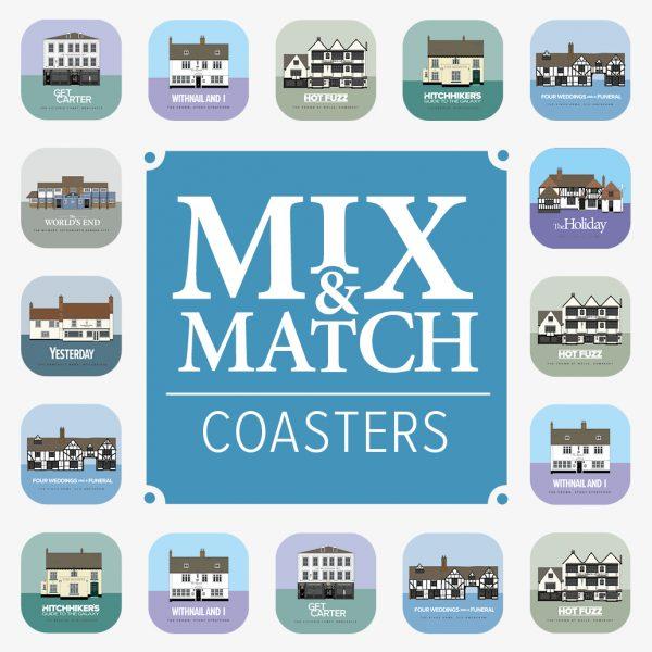 Mix and Match Pub Movie Coasters