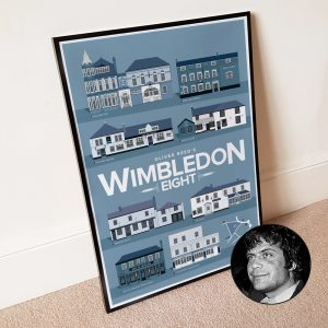 Wimbledon poster leaning against wall