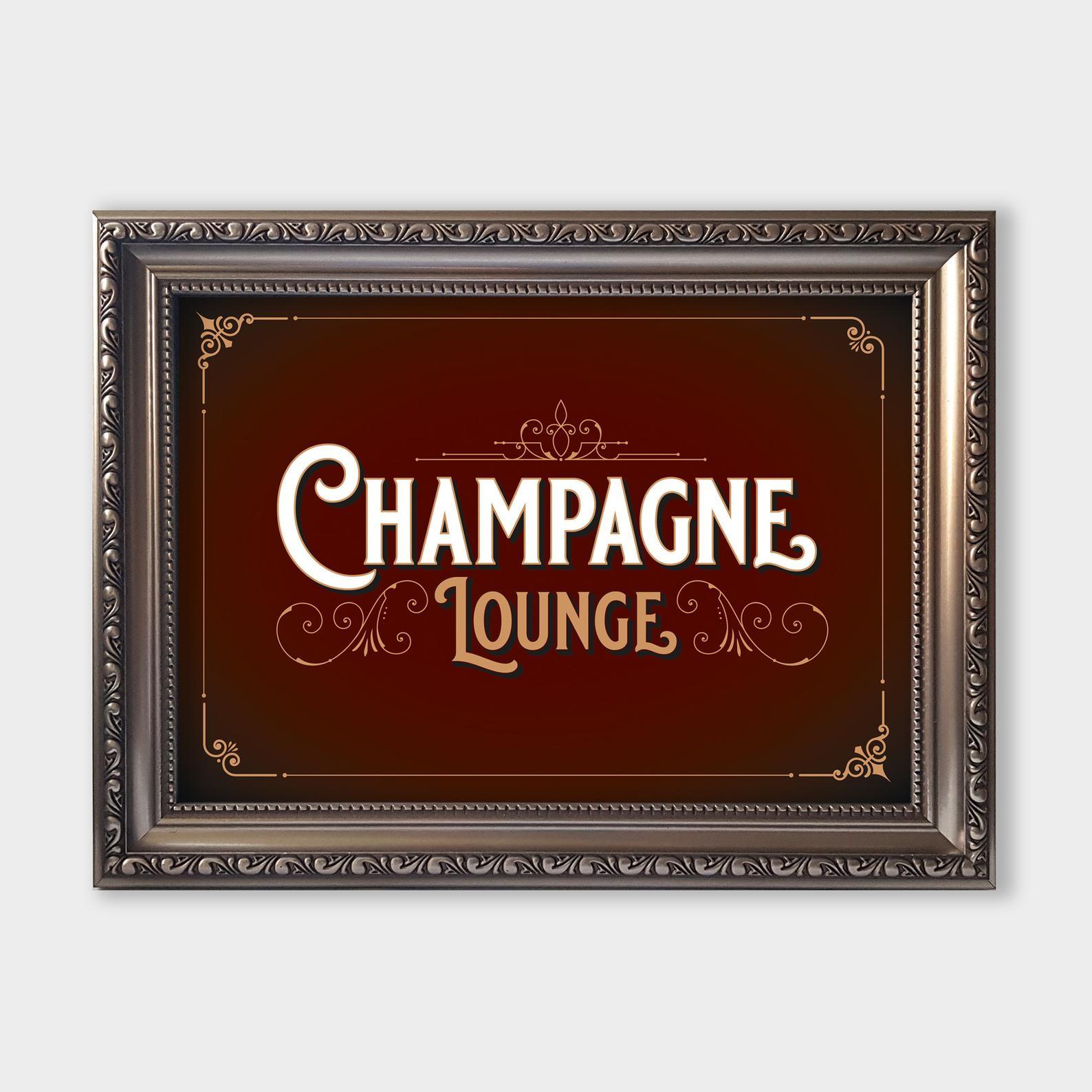 Champagne Lounge A4 Print