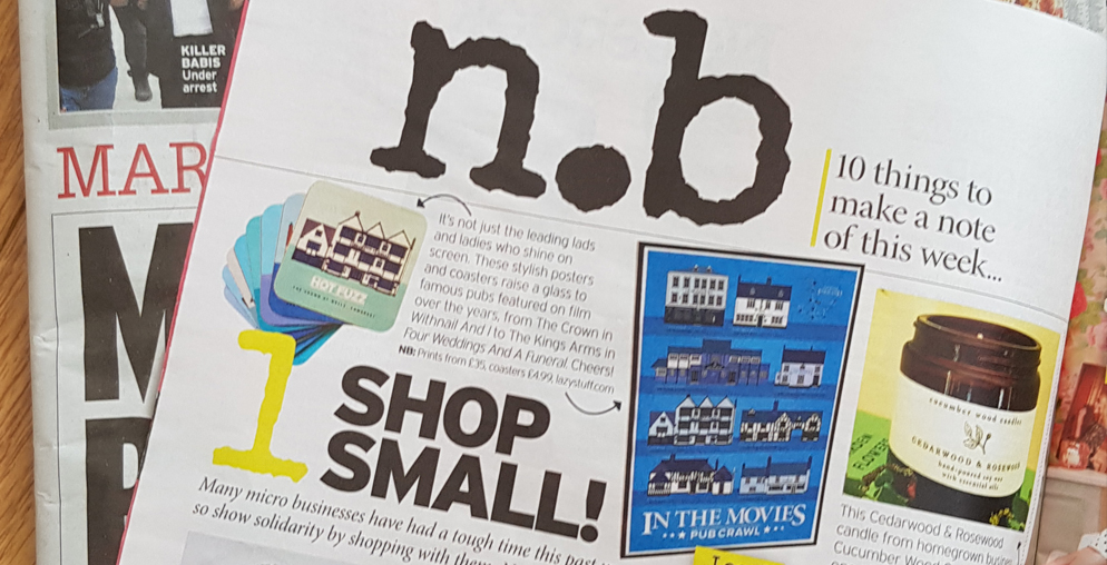 Lazystuff in Sunday Mirror Magazine