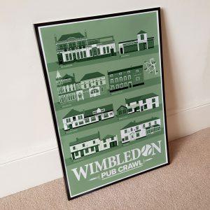 Wimbledon Pub Crawl TennisWimbledon Pub Crawl Tennis Green Poster