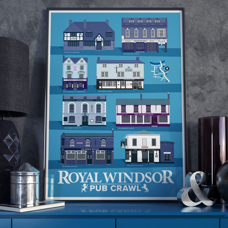 Royal Windsor Pub Crawl on dark background