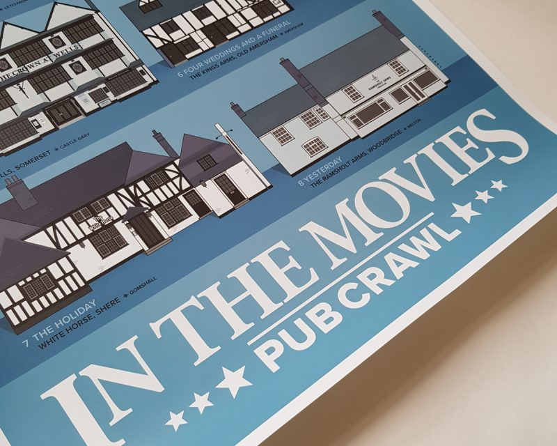 Pubs In Movies Printed Poster